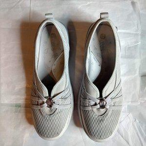 """Bzees """"Niche"""" Slip on Shoes – Silver Cloud…"""